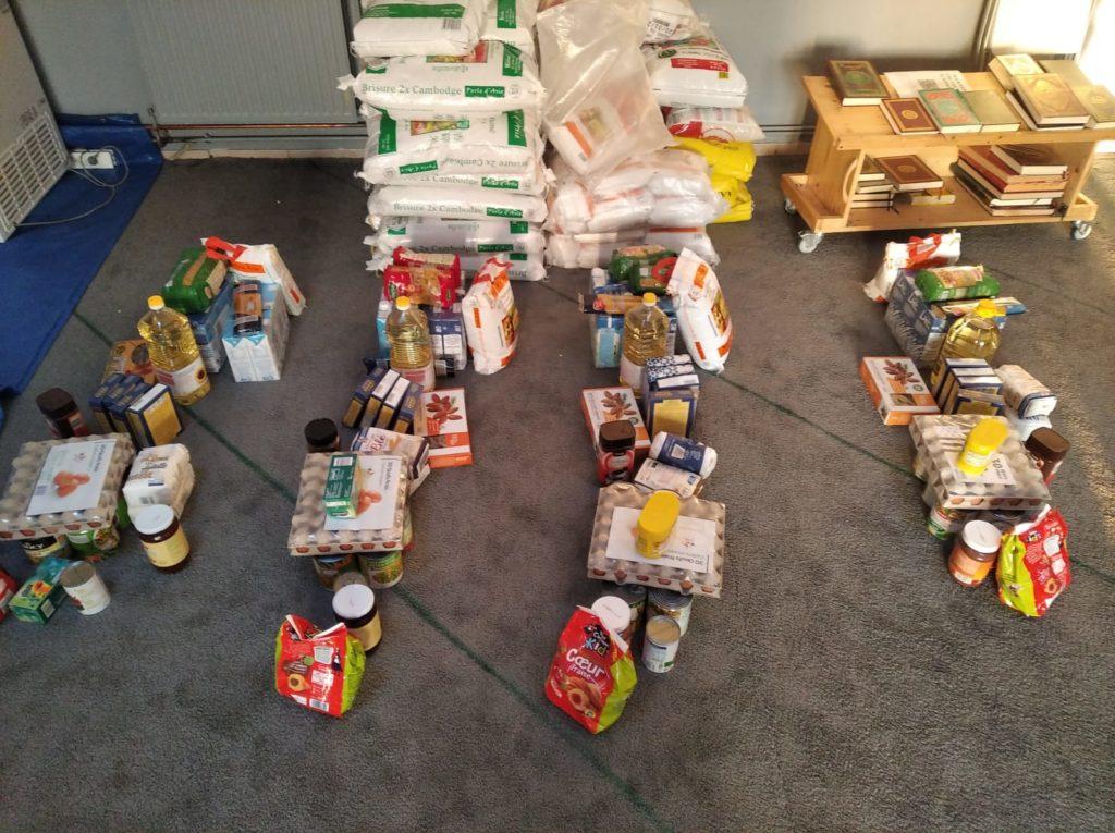 denrées alimentaires dons mosquée le mans